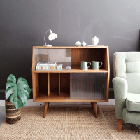 Vintage cabinet with record storage